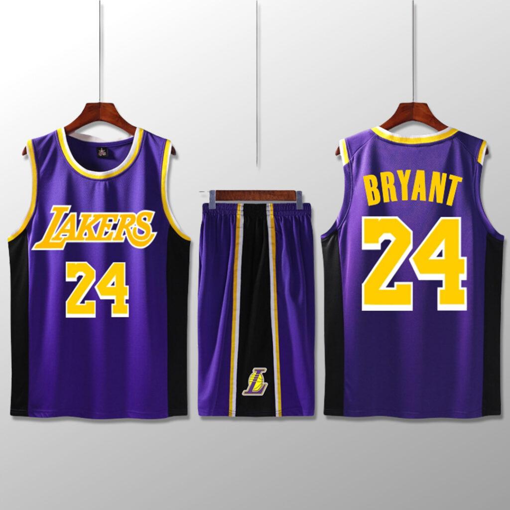 Bộ quần áo bóng rổ Kobe - Tím sọc đen