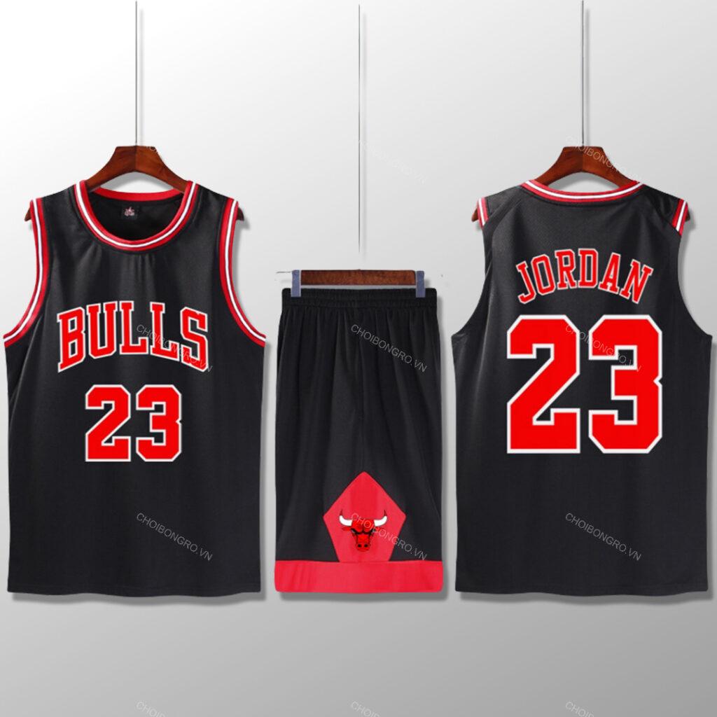 Bộ quần áo bóng rổ Jordan - Đen
