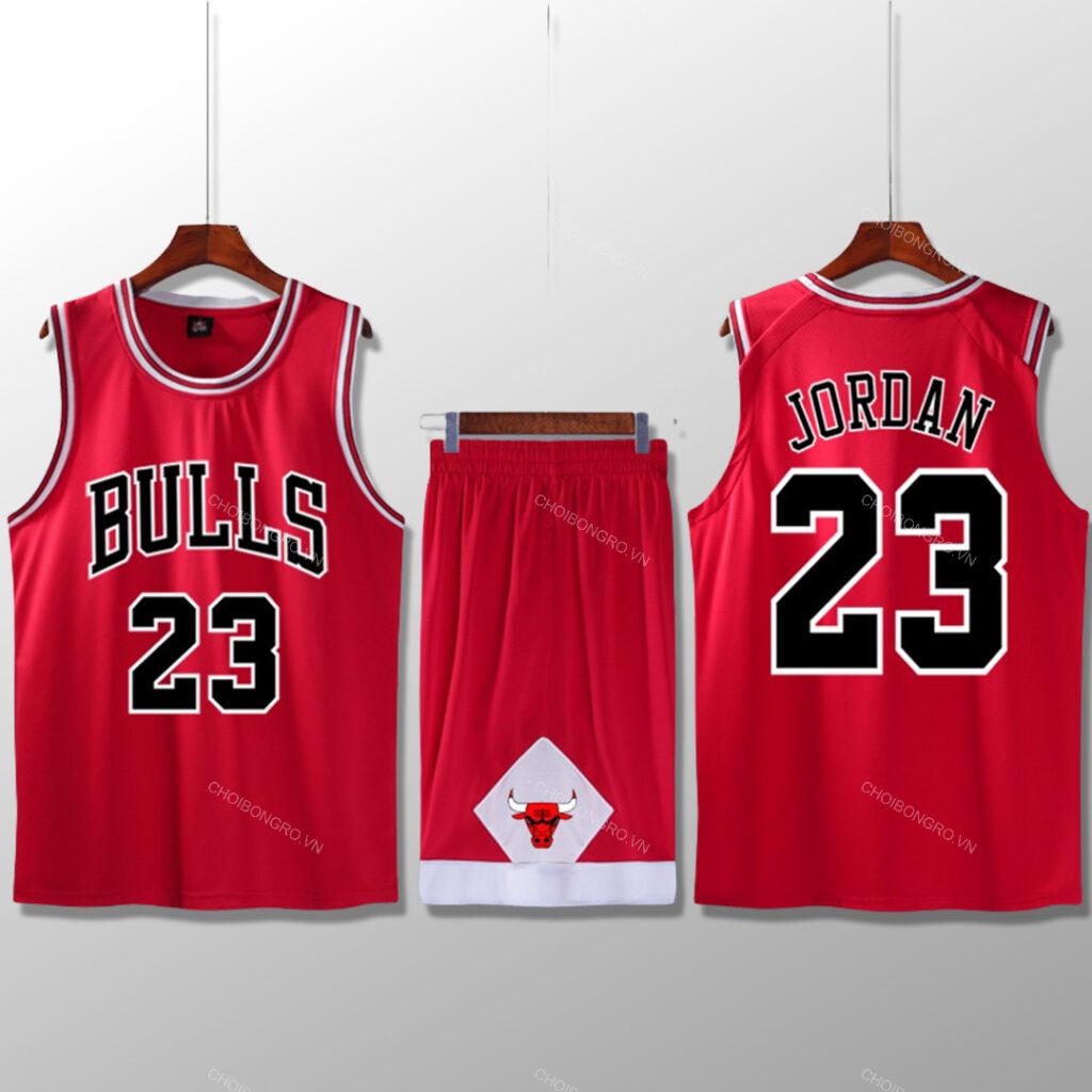 Bộ quần áo bóng rổ Jordan - Đỏ