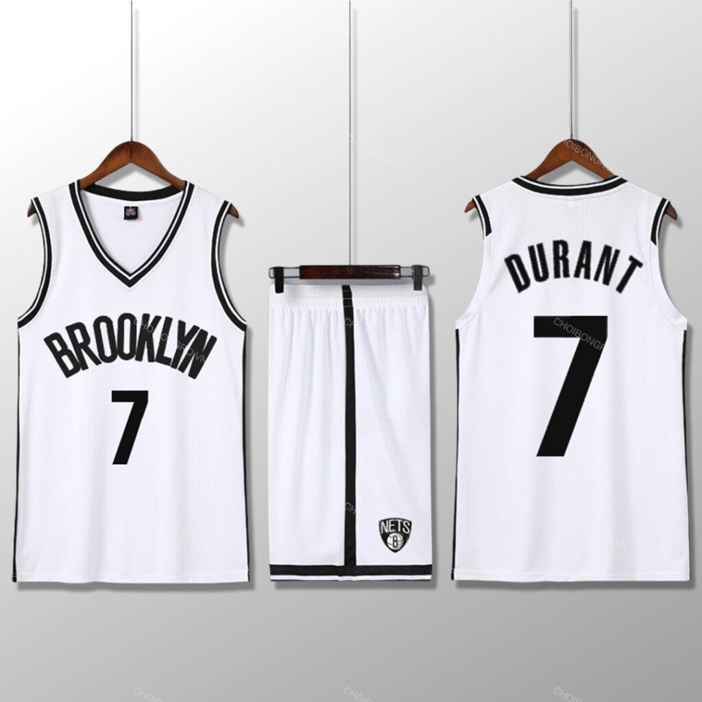 Bộ quần áo bóng rổ KD - Trắng