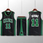 Bộ quần áo bóng rổ Kyrie Celtics - Đen