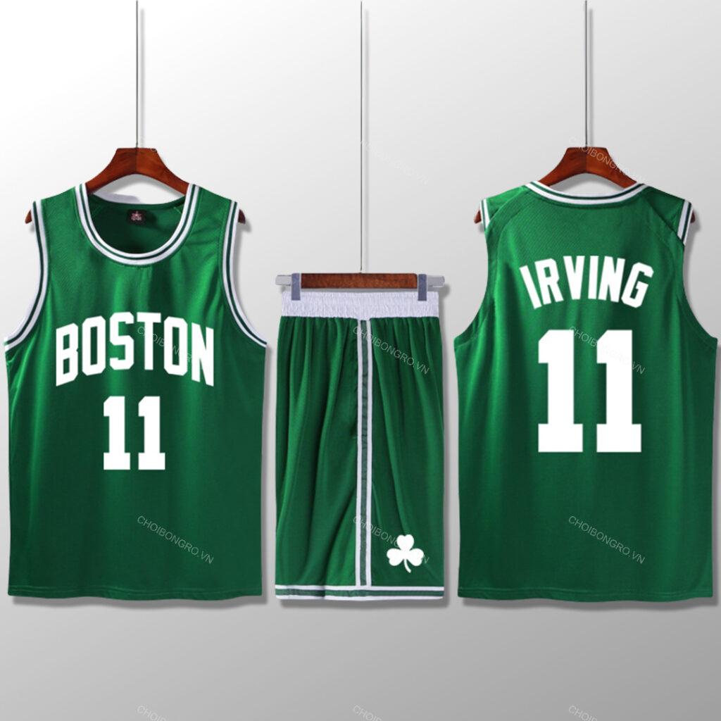 Bộ quần áo bóng rổ Kyrie Celtics - Xanh