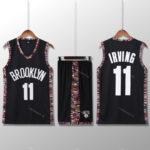 Bộ quần áo bóng rổ Kyrie Nets - City Editions Đen