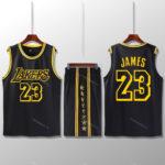 Bộ quần áo bóng rổ Lebron - Đen