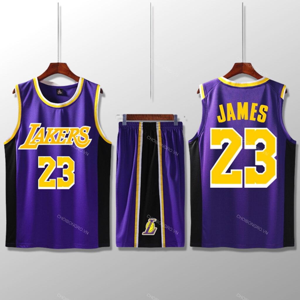 Bộ quần áo bóng rổ Lebron - Tím
