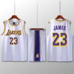 Bộ quần áo bóng rổ Lebron - Trắng