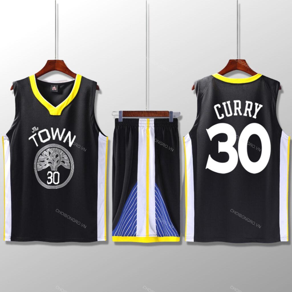 Bộ quần áo bóng rổ Curry - Đen