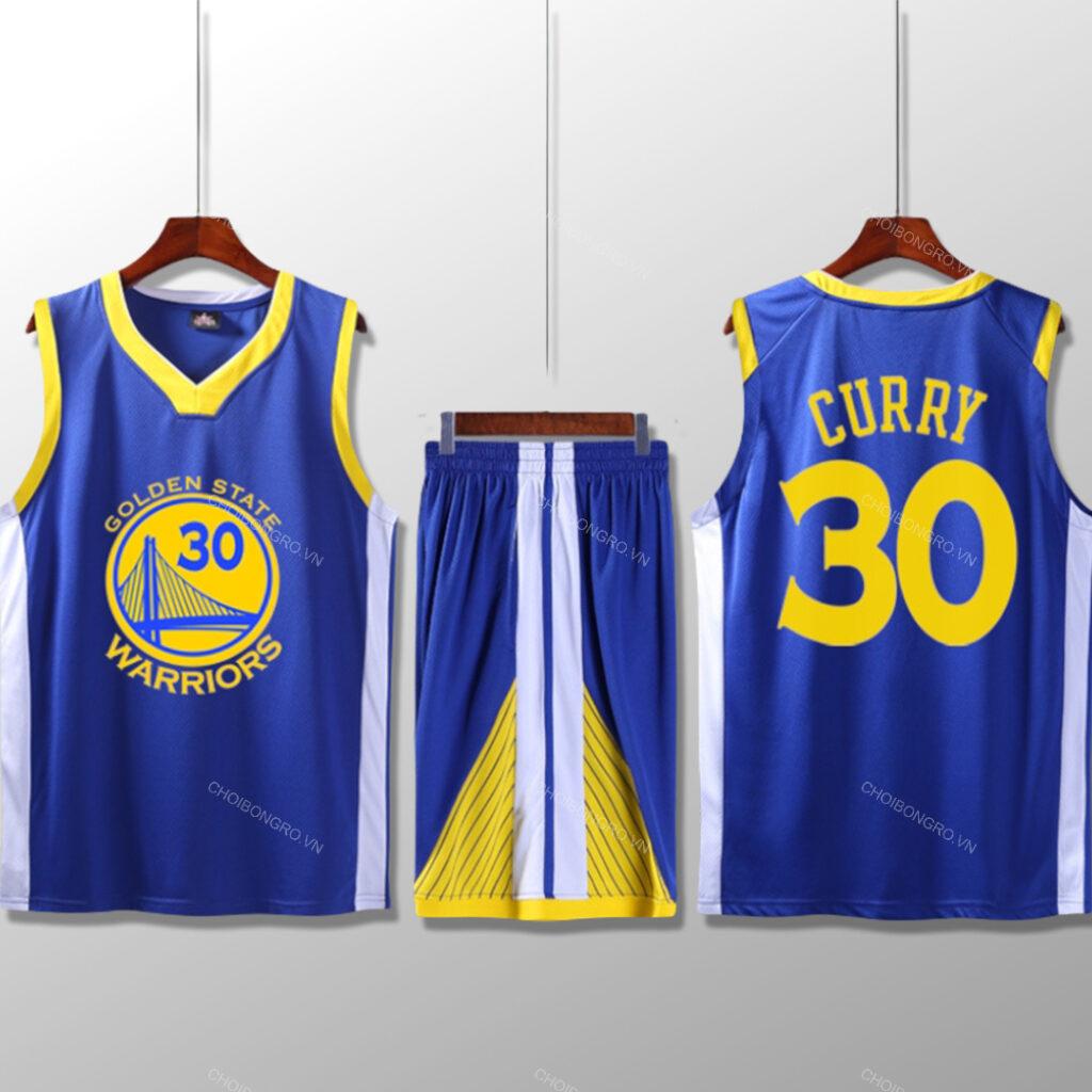 Bộ quần áo bóng rổ Curry - Xanh